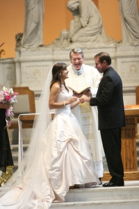 mark and i exchanging rings
